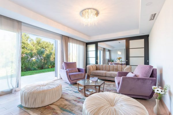 interior design project of modern villa in Marbella, Costa del Sol. Living room