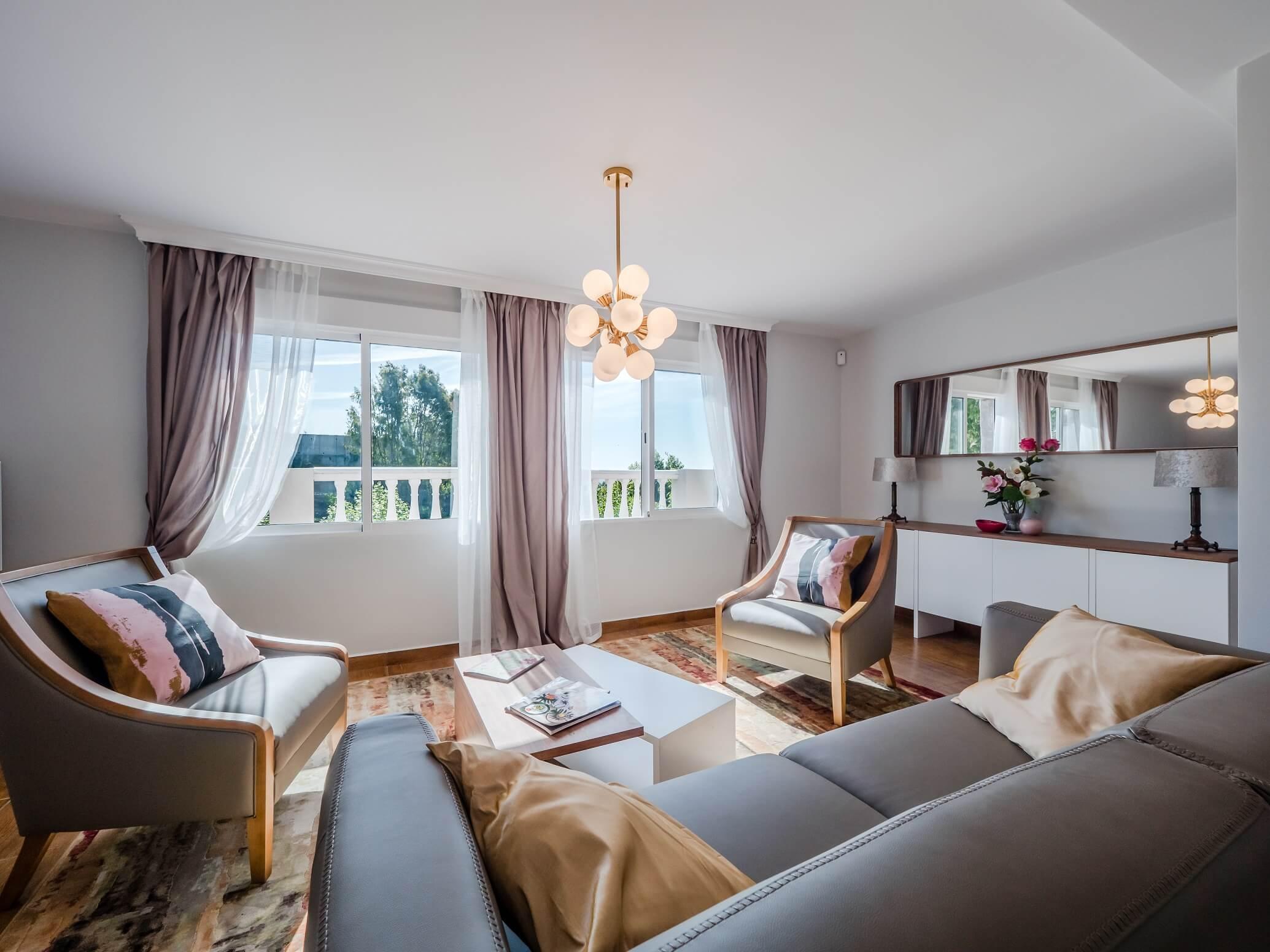 """Дизайн интерьера дома в Марбелья сделан нашей студией интерьерного дизайна """"Tania Marbella Interior Design"""". Стиль интерьера: скандинавский."""