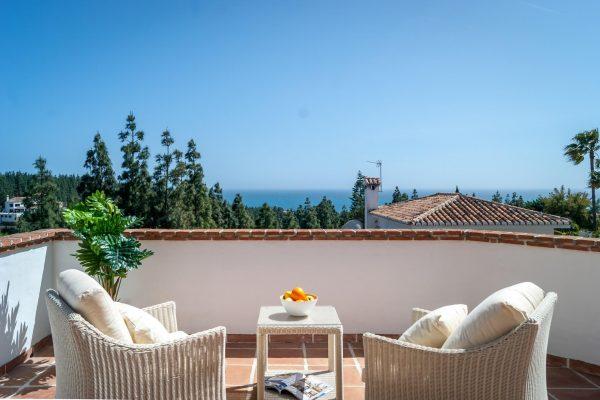 classical interior design project first line golf villa in Marbella, Costa del Sol