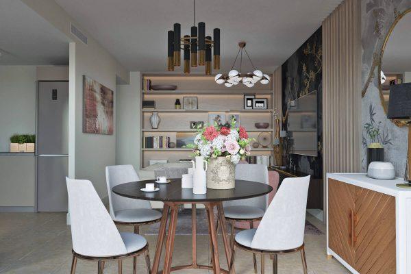 3D renders contemporary design apartments Marbella